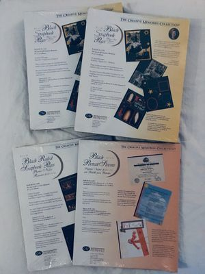 4 packages creative memories 8 1/2 x 11 BLACK refill page - NEW for Sale in Tustin, CA