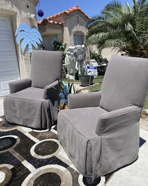 Beautiful Two Tessa Skirted Arm Chair ( FREE DELIVERY 🚚) EXCELLENT CONDITIONS for Sale in North Las Vegas, NV