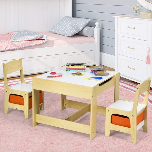 Children Activity Table Desk Sets w/Storage Drawer