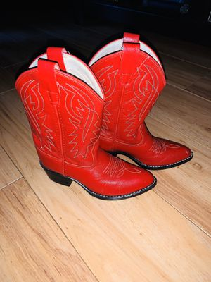 Little girls red cowgirl boots for Sale in Keller, TX