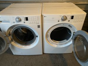 LG FRONT LOAD WASHER AND ELECTRIC DRYER for Sale in San Antonio, TX