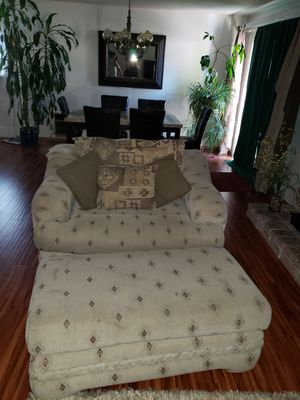 Over Sized Chair/Ottoman & loveseat for Sale in Fresno, CA
