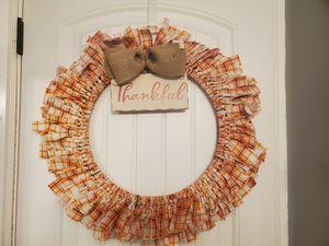 """18"""" front door thankful wreath for Sale in Murray, UT"""