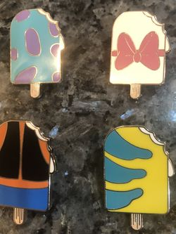 Collectible Disney Popsicle Ice Cream Trading Pins. Year 2018. Mystery Pack Pins Includes All 4 Pins. Brand New for Sale in Cerritos,  CA