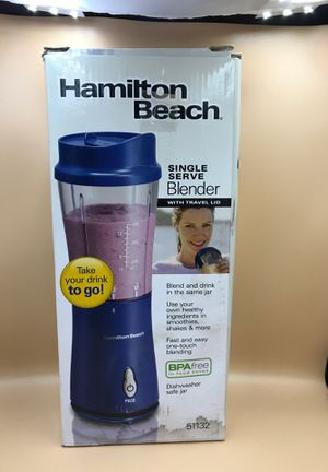 Hamilton Beach single serve blender with travel lid - BPA free in navy blue- new for Sale in Las Vegas, NV