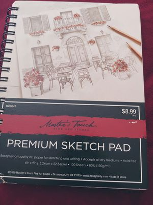 Premium sketch pad. New. Quality art supplies. Perforated pages. High Quality for Sale in Colorado Springs, CO
