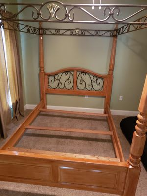 Queen canopy bed frame for Sale in DeLand, FL