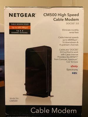 NETGEAR High Speed Cable Modem CM500 for Sale in Queens, NY