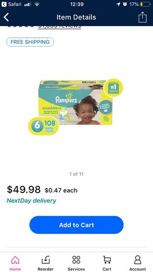 Pampers size 6, 108count BIG BOX! for Sale in Tarpon Springs, FL