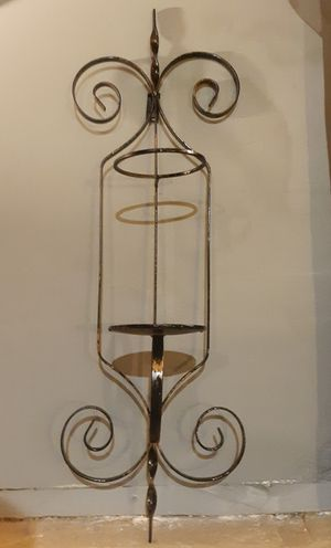 Wrought Iron Wall Sconce Candle Holder / Vase for Sale in Dallas, GA