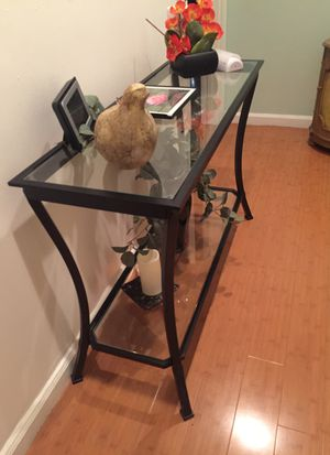 Black metal glass table for Sale in Covina, CA