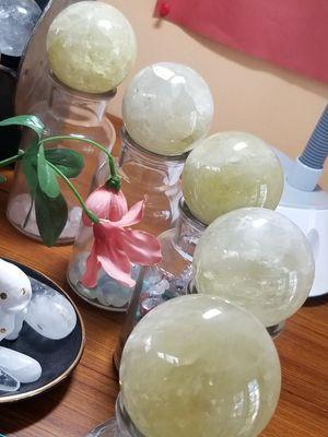 Citrine spheres 60 mm $33 for Sale in Orange, CA