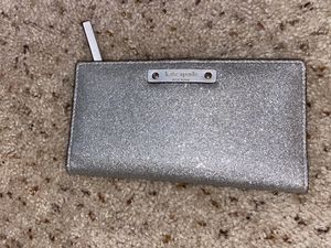 Sparkly Silver Glitter Kate Spade folding wallet for Sale in Pittsburg, CA