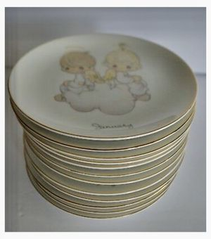 Precious Moments collectible plates (12 months) for Sale in Elk Grove, CA