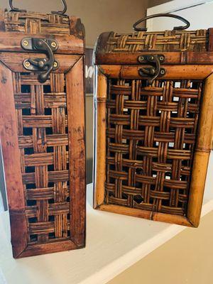 ANTIQUE BEAUTIFUL WICKER BOXES for Sale in Longview, TX