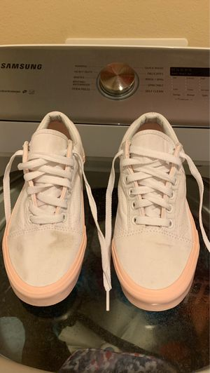 White and pink vans for Sale in Visalia, CA