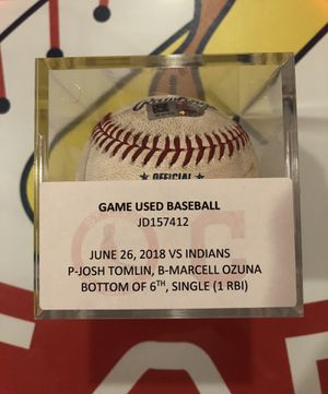 Marcell Ozuna game used single for Sale in Wentzville, MO
