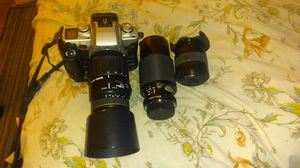 CANON EOS ELAN II w/ zoom lense and 2 extra telephoto zoom lens for Sale in San Leon, TX