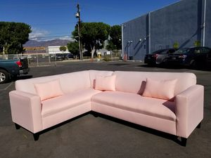 NEW 7X9FT PEACH FABRIC SECTIONAL COUCHES for Sale in Chula Vista, CA