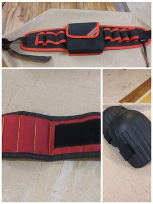 Tool Belt with Magnetic Wristband and Knee Pads for Sale in Mobile, AL