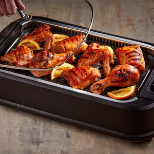 NEW Indoor Smokeless Electric Grill Non-Stick BBQ Burgers Steak Chicken Fish Tabletop Backyard Camping Portable for Sale in Seattle, WA