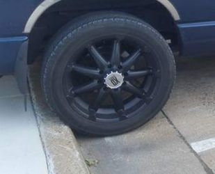 Rims 22 for dodge ram 1500 8 lug tire mey need to be replaced painted black for Sale in Salisbury,  NC