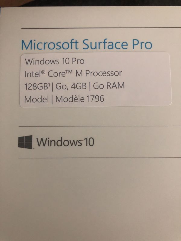 MUST GO TODAY Microsoft surface pro untouched