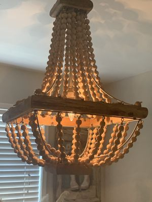 Wood chandelier !!! for Sale in Chino Hills, CA