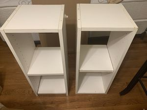 Moving Sale! 2xShelves-White for Sale in Silver Spring, MD