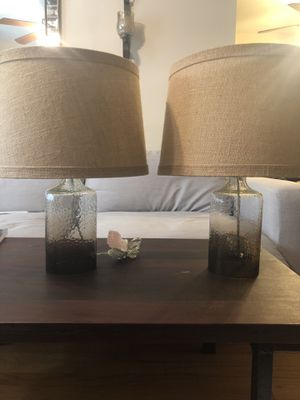 Pair of lamps, complete with cord, bulbs and shades. for Sale in Santa Monica, CA