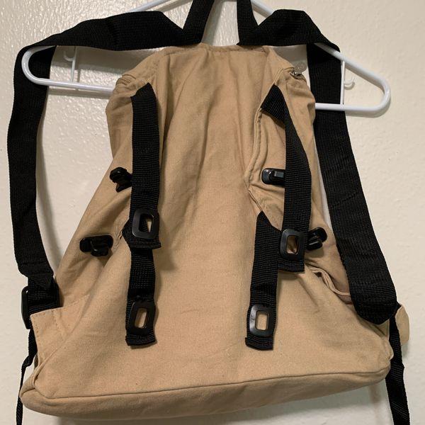 Ergo Baby Backpack Daypack Side Top Zipper Tan Gift Travel Maternity Diaper Bag