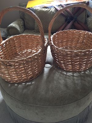Two over sized baskets for Sale in Crownsville, MD
