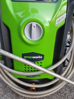 Green works 1600 psi pressure washer for Sale in Pittsburgh, PA