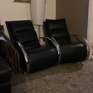 ModernBlack Leather Rocker Chairs for Sale in Aurora, CO