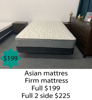 Asian firm mattress full size for Sale in Costa Mesa, CA