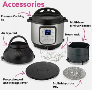 Instant Pot Duo Crisp 11-in-1 Air Fryer and Pressure Cooker 8 Quart for Sale in Clovis, CA
