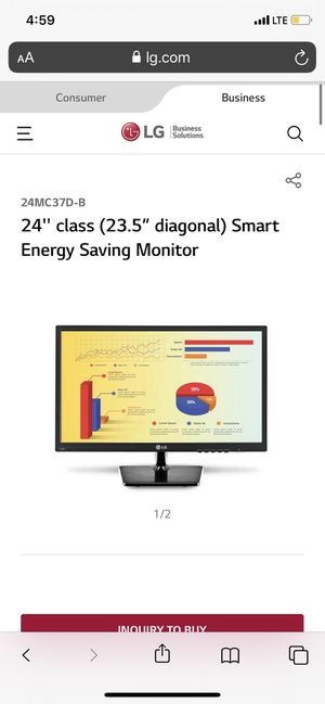 LG LED monitor 24 inch for Sale in Washington, DC