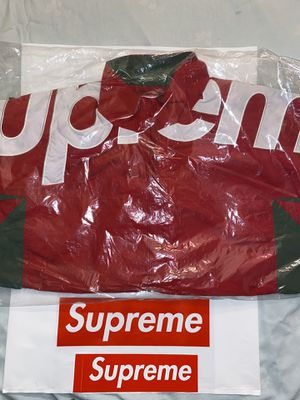 Supreme Shoulder Logo Track Jacket Red Size L for Sale in Houston, TX