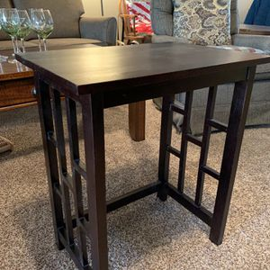 Espresso Wood Asian End Table for Sale in Scottsdale, AZ