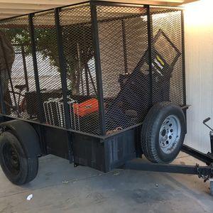 5x12 Single Axle Enclosed Trailer Light Weight Heavy Duty 5,000lbs Max Load . for Sale in Phoenix, AZ