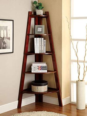 Simple Cherry Corner Ladder Shelf for Sale in Southlake, TX