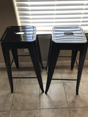 Black metal bar stools for Sale in Cypress, TX