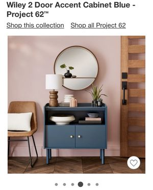 Wiley 2 Door Accent Cabinet Blue - Project 62 for Sale in West Covina, CA
