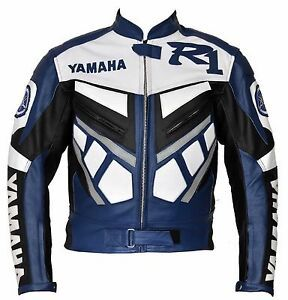 Motorcycle Jacket Yamaha Blue Leather Jacket Size XL-3XL for Sale in Austin, TX