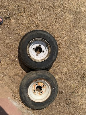 Two 4.80-8 trailer rims only, tires are no good.. 10 dollars for Sale in Madera, CA