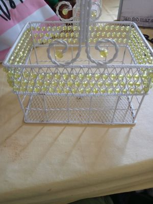 Metal beaded basket for Sale in Akron, OH