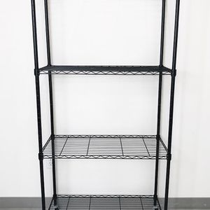"New $50 Metal 4-Shelf Shelving Storage Unit Wire Organizer Rack Adjustable w/ Wheel Casters 30x14x61"" for Sale in Whittier, CA"
