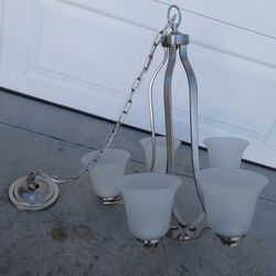5 Bulb Nickel Chandelier for Sale in Dunnellon,  FL
