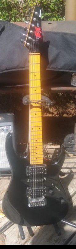 Ibanez EX (preRX) '92 model beautiful guitar EXC✓ Spa setup✓ new strings✓ roller string trees✓ glassy neck✓ HSH✓ 5way✓ wam-bar✓ $20 gig bag. $225 all for Sale in Spring, TX