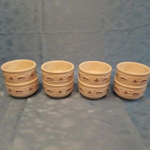 "Longaberger Pottery Set Of 8 Desert Bowls 3.5"" X 2"" for Sale in Batavia, IL"
